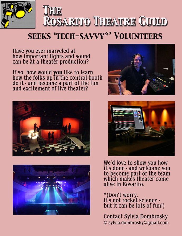 Volunteer at the RTG in lighting and sound